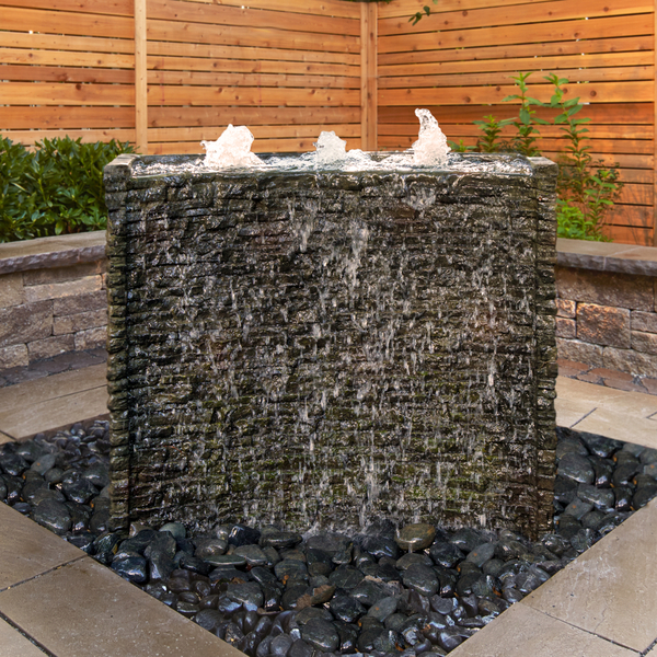 78269 Stacked Slate Spillway Wall Landscape Fountain Kit - 32-inch